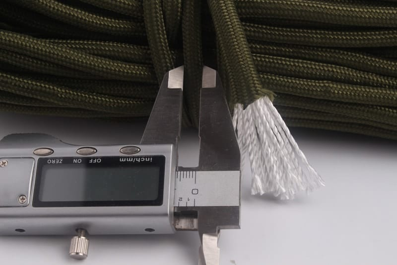 6mm zelený paracord pre magnetic fishing