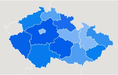 Mapa obľubenosti magnetického rybárčenia v Česku
