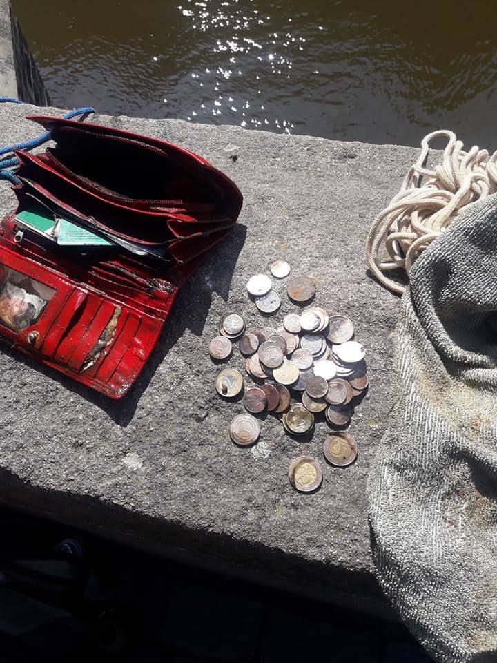 Peňaženka s poľskými zlotými