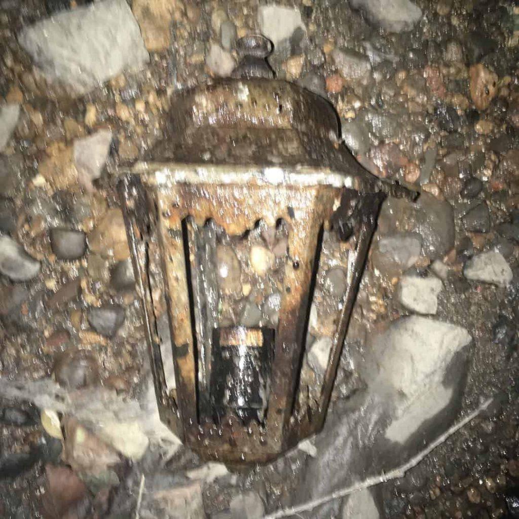 vrchná časť z pouličnej lampy