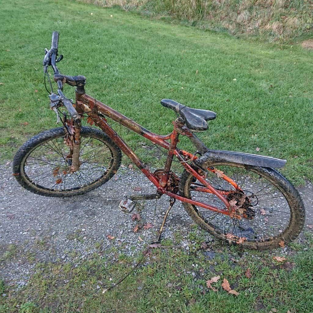 magnet-fishing bicykel