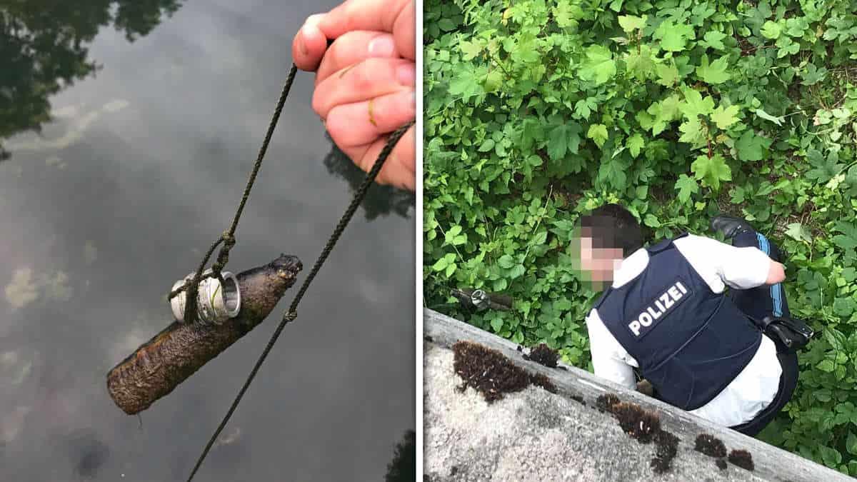 delostrelecky granat z Prvej svetovej vojny najdeny v kanali moosburg