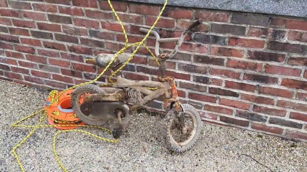 detsky bicykel objavený na magnet fishingu