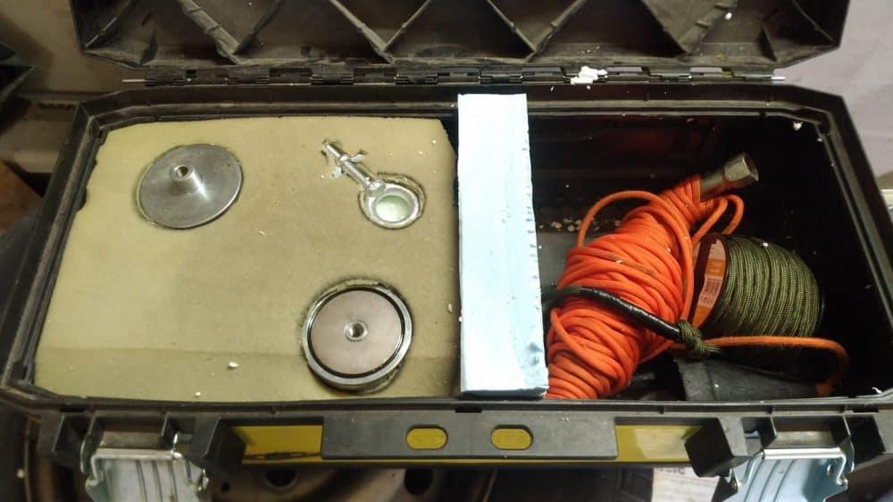 druhá verzia kufríka pre sadu magnet fishing