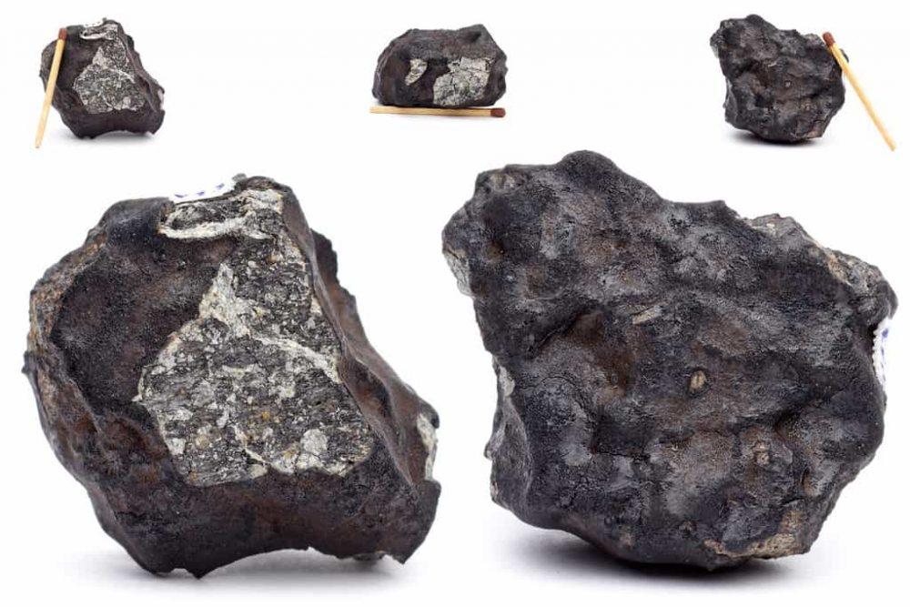 Ukážka meteoritických kameňov