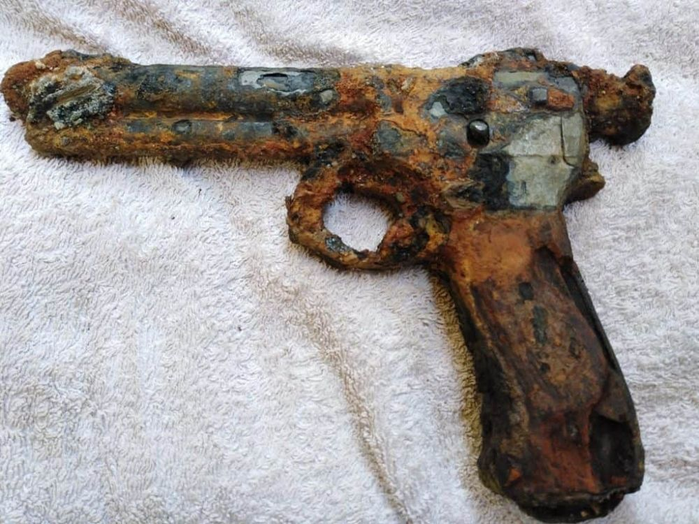 Nález zbrane od magnet fishing tímu Brno Boys