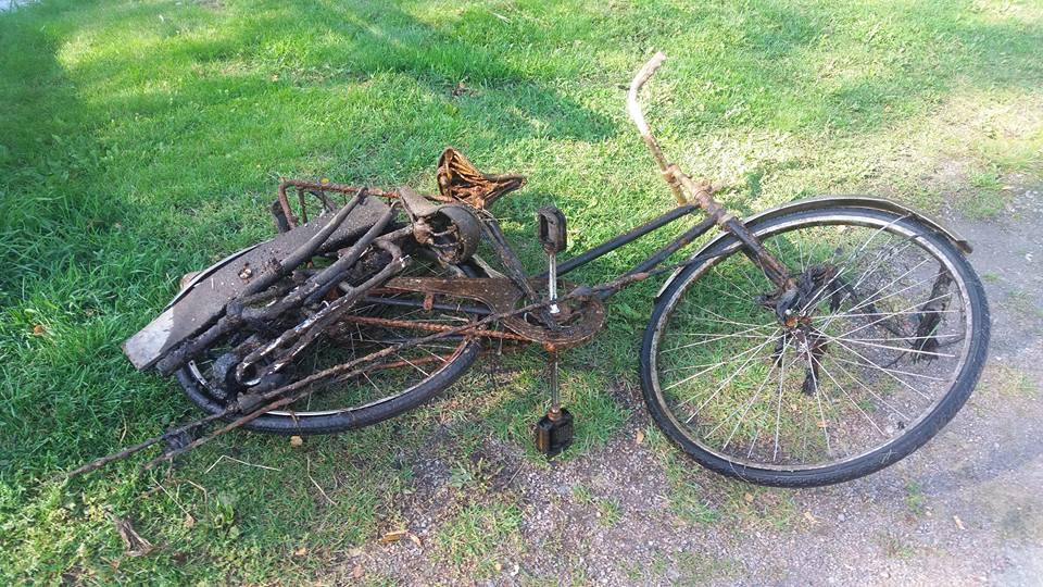 Magnet fishingový nález bicykla