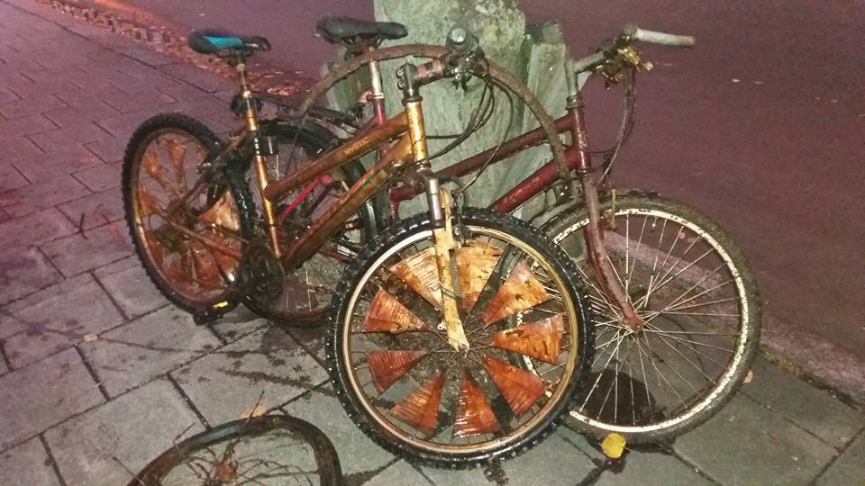 Bicykle v dezolátnom stave