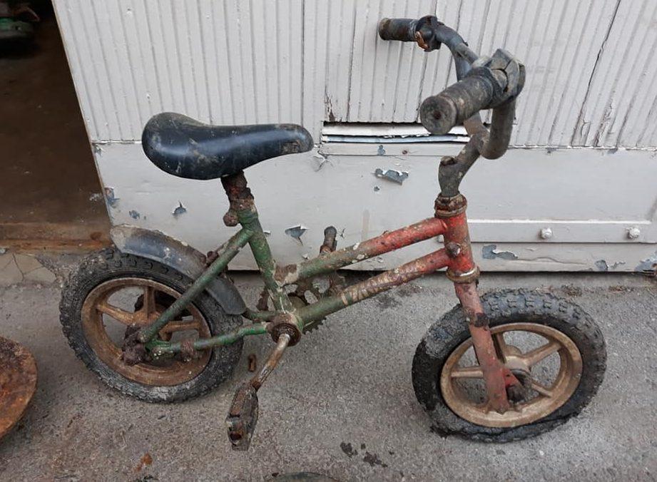 Skorodovaný bicykel pre deti
