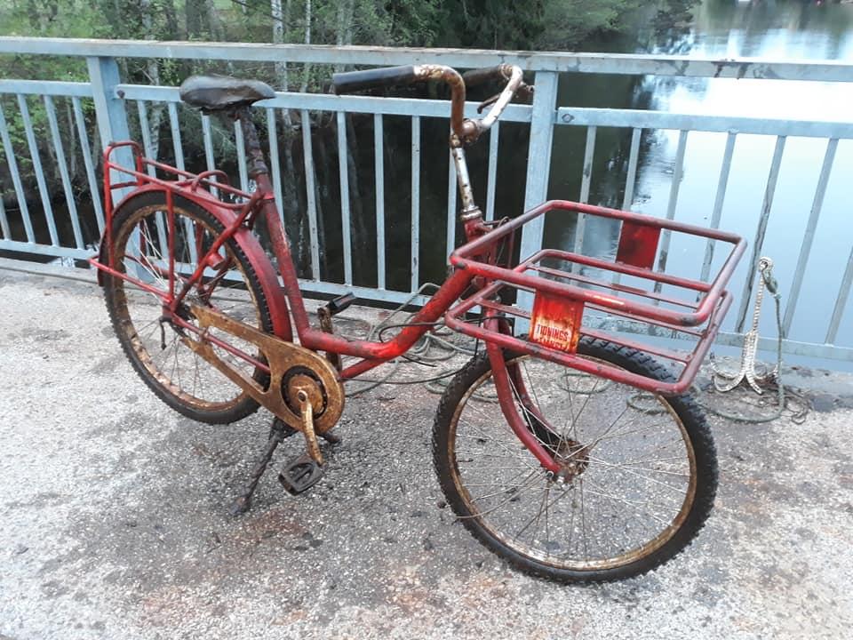 Pekný úlovok bicykla magnetom z Nórska