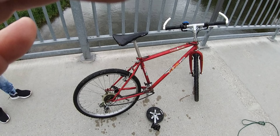 Bicykel na moste