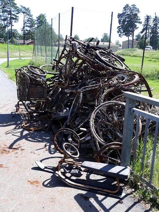 Nórsky megaúlovok niekoľkých bicyklov