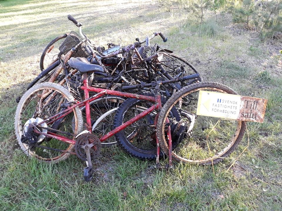 Kopa bicyklov