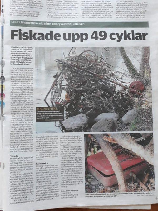 O šialenom úlovku bicyklov písali v nórskych novinách