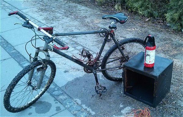 Úlovok bicykla a trezoru