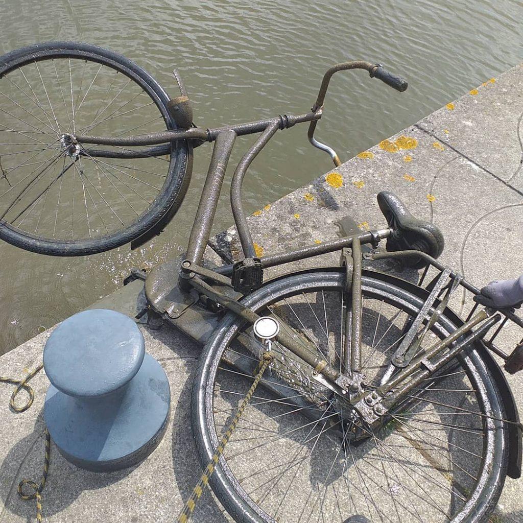Nález bicykla magnetom