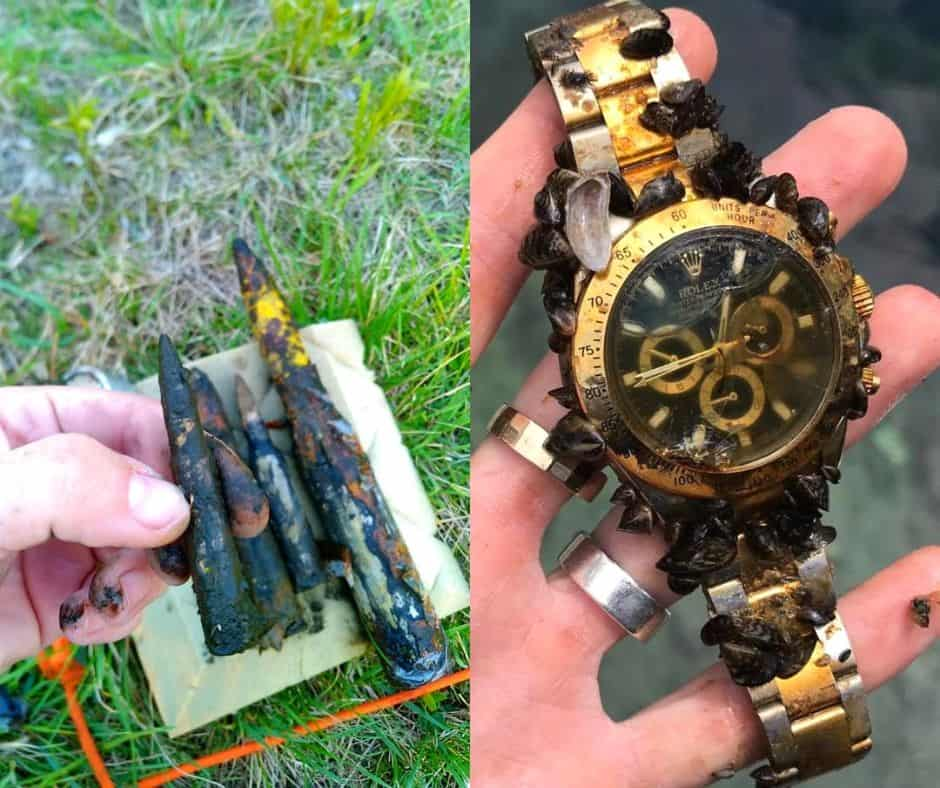 Magnet fishing úlovky