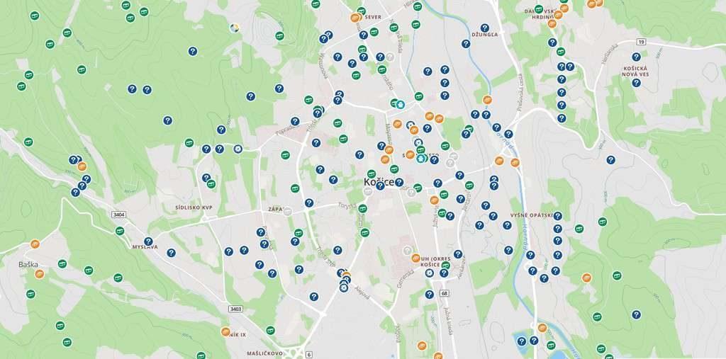 Geocachingové skrýše v okolí Košíc