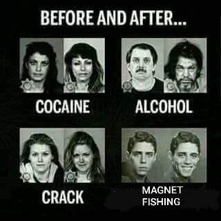 pred a po: kokaín, alkohol, crack, magnet fishing