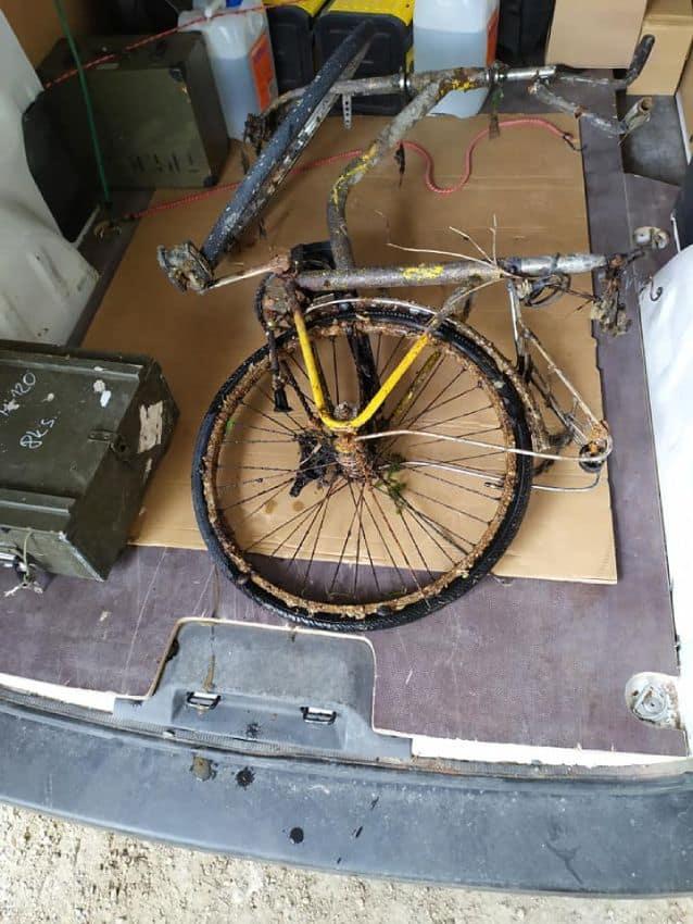 Úlovok bicykla v dodávke