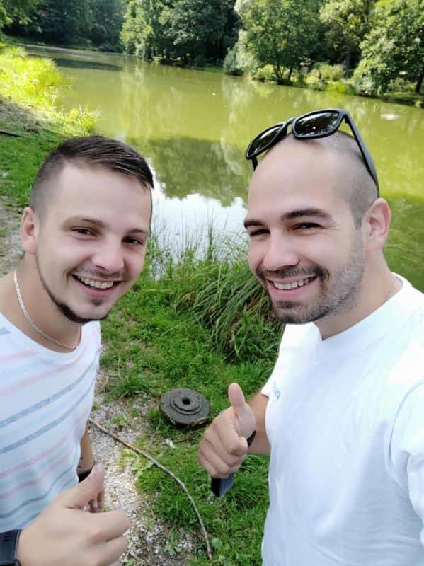 Magnetoví rybári v Banskej Bystrici našli mínu
