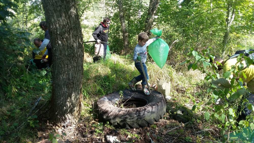 Čistenie českých lesov od odpadkov
